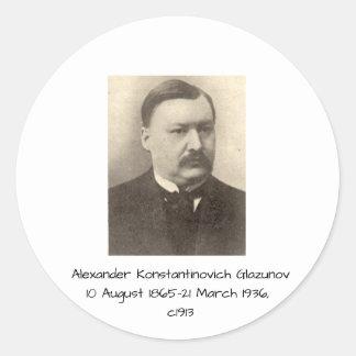 Alexander Konstamtinovich Glazunov c1913 Classic Round Sticker