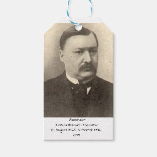 Alexander Konstamtinovich Glazunov c1913 Gift Tags