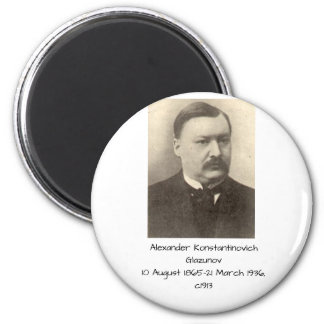 Alexander Konstamtinovich Glazunov c1913 Magnet