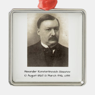 Alexander Konstamtinovich Glazunov c1913 Metal Ornament