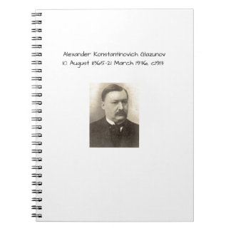 Alexander Konstamtinovich Glazunov c1913 Notebook