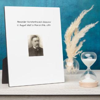 Alexander Konstamtinovich Glazunov c1913 Plaque