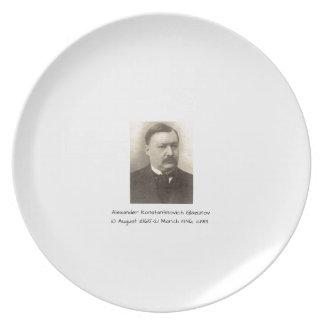Alexander Konstamtinovich Glazunov c1913 Plate