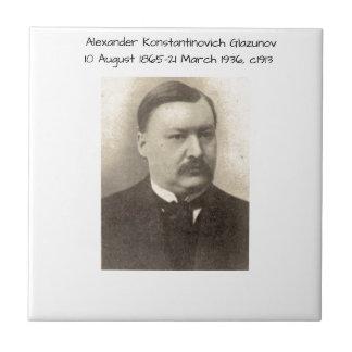 Alexander Konstamtinovich Glazunov c1913 Tile