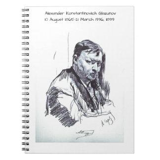 Alexander Konstantinovich Glazunov 1899 Notebook