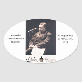 Alexander Konstantinovich Glazunov 1899 Oval Sticker