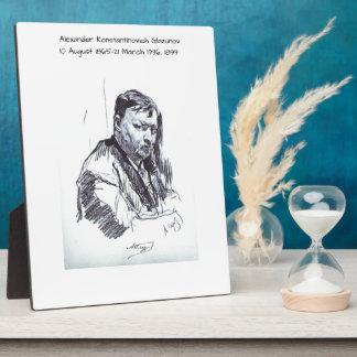 Alexander Konstantinovich Glazunov 1899 Plaque