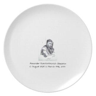 Alexander Konstantinovich Glazunov 1899 Plate