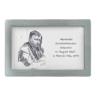 Alexander Konstantinovich Glazunov 1899 Rectangular Belt Buckle