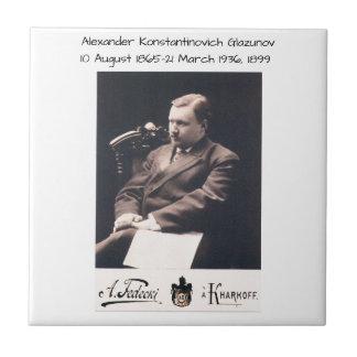 Alexander Konstantinovich Glazunov 1899 Tile