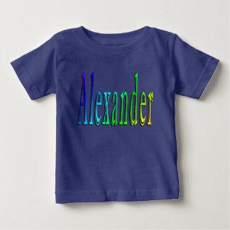 Alexander,_Name_Logo Baby Boys Blue T-shirt