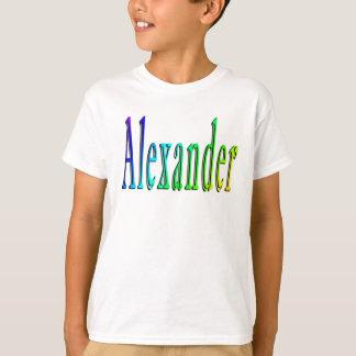 Alexander,_Name_Logo Boys White T-shirt