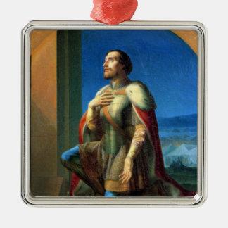 Alexander Nevsky Prince of Novgorod Silver-Colored Square Ornament