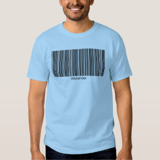 Alexander Personalized Functional Barcode Tee