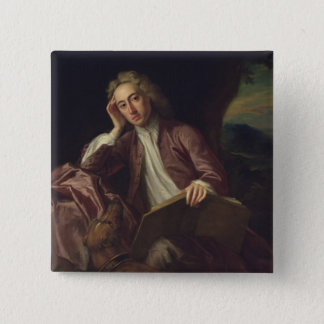 Alexander Pope and his dog, Bounce, c.1718 2 Inch Square Button