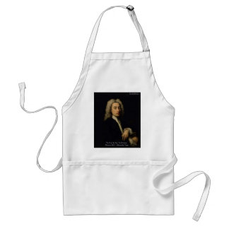 """Alexander Pope """"Art Vs Wit"""" Wisdom Quote Gifts Standard Apron"""