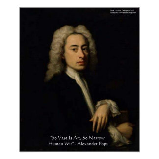 "Alexander Pope ""Art Vs Wit"" Wisdom Quote Posters"