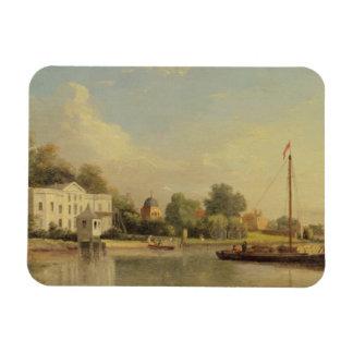 Alexander Pope's (1688-1744) Villa, Twickenham, c. Rectangular Photo Magnet