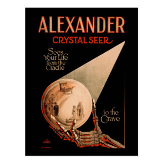 Alexander sees your life from the cradle postcard