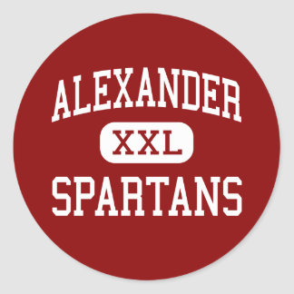 Alexander - Spartans - High School - Albany Ohio Round Sticker