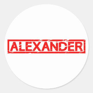 Alexander Stamp Classic Round Sticker
