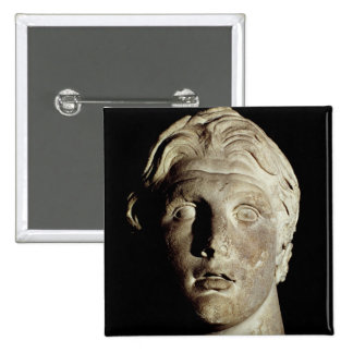 Alexander the Great , found in Pergamum 2 Inch Square Button