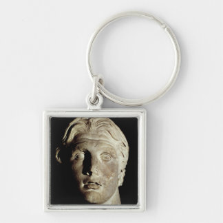 Alexander the Great , found in Pergamum Silver-Colored Square Keychain