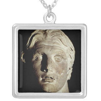 Alexander the Great , found in Pergamum Silver Plated Necklace