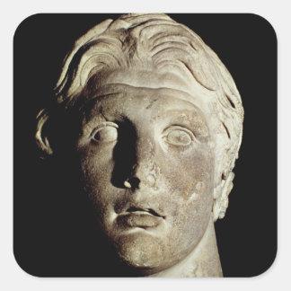 Alexander the Great , found in Pergamum Square Sticker