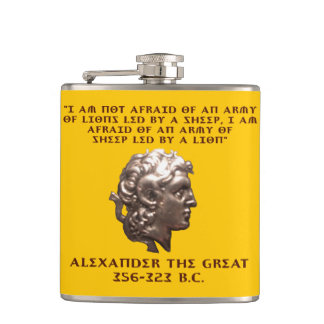 Alexander the Great Hip Flask