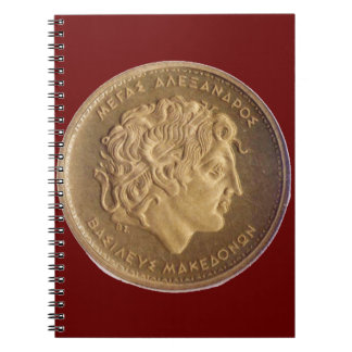 Alexander the Great, king of Macedonians Spiral Notebook