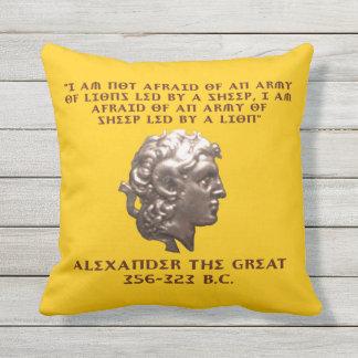Alexander the Great Outdoor Pillow