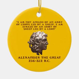 Alexander the Great Round Ceramic Ornament