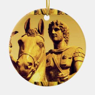 ALEXANDER the Great :  Vintage Alexanderia Ceramic Ornament