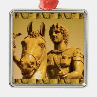 ALEXANDER the Great :  Vintage Alexanderia Metal Ornament