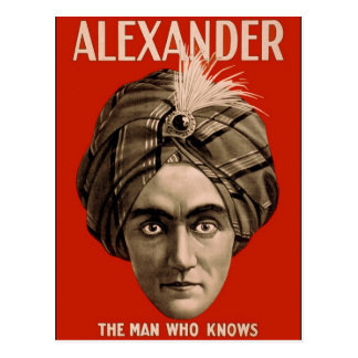 Alexander the Man Who Knows Postcard