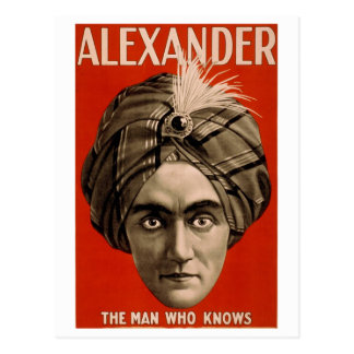 """""""Alexander : The Man Who Knows"""" Vintage Card"""