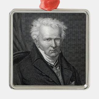Alexander von Humboldt, engraved by C. Cook Metal Ornament