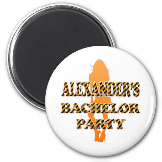 Alexander's Bachelor Party 2 Inch Round Magnet