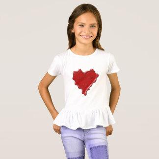 Alexandra. Red heart wax seal with name Alexandra. T-Shirt