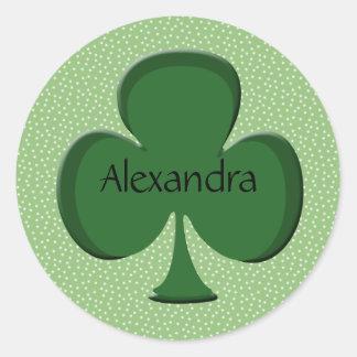 Alexandra Shamrock Name Sticker / Seal