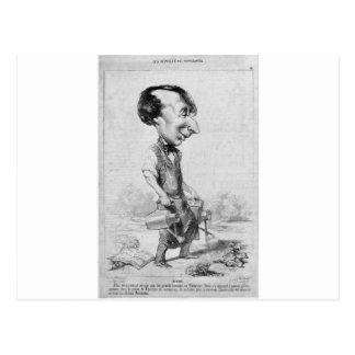 Alexandre Bixio by Honore Daumier Postcard