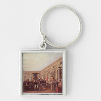 Alexandre Brongniart Silver-Colored Square Keychain