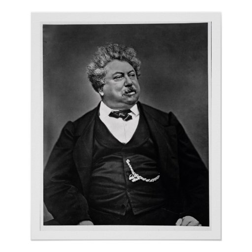 Alexandre Dumas pere (1802-70), from 'Galerie Cont Poster