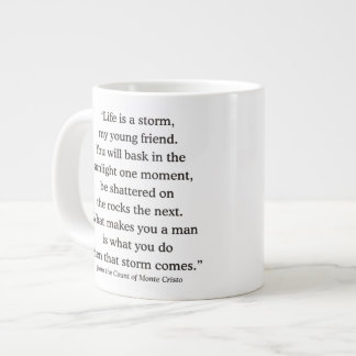 Alexandre Dumas Wisdom on Life Jumbo Mug