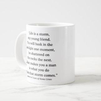 Alexandre Dumas Wisdom on Life Large Coffee Mug