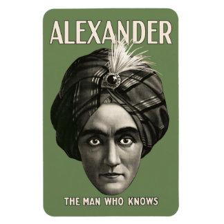 Alexandre - l'homme qui sait - aimant magnets en rectangle