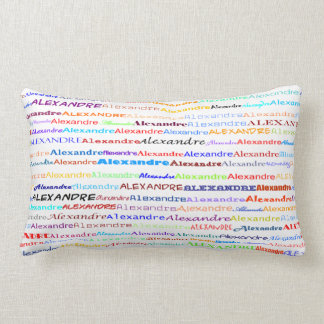 Alexandre Text Design II Lumbar Pillow