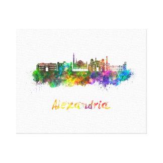 Alexandria skyline in watercolor canvas print