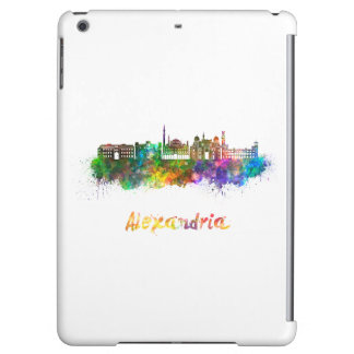 Alexandria skyline in watercolor iPad air covers